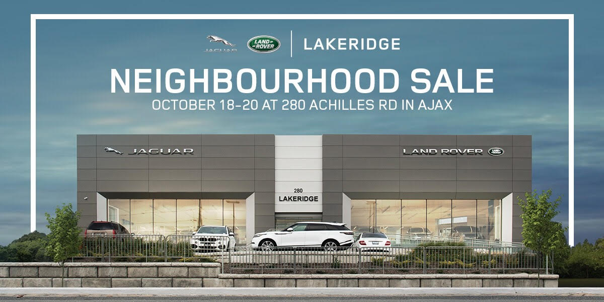 Jaguar Land Rover Lakeridge Neighbourhood Sale